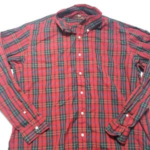 Vintage Nordstrom Red Plaid Button Down Shirt